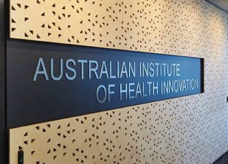 Australian Institute of Health Innovation sign
