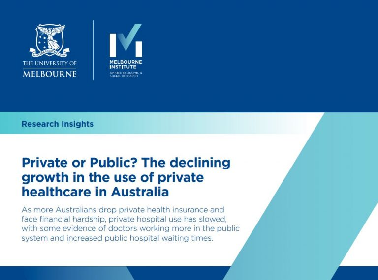 Photo of paper - Private or Public? The declining growth in the use of private health in Australia